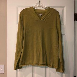 J Jill v neck light sweater